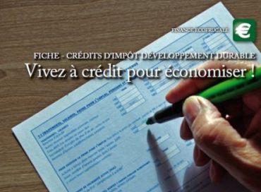 Le crédit d'impôt développement durable