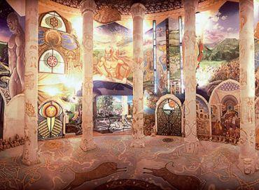 Les temples de l'humanité de Damanhur au Piémont