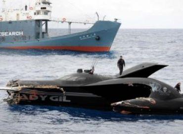 L'Ady Gil navire de Sea Shepherd coulé