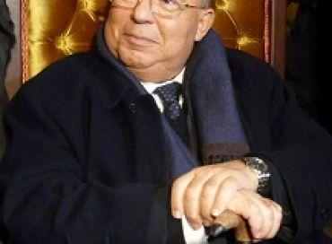 Dalil Boubakeur, recteur de la Grande Mosquée de Paris, lors du thé de la Fraternité