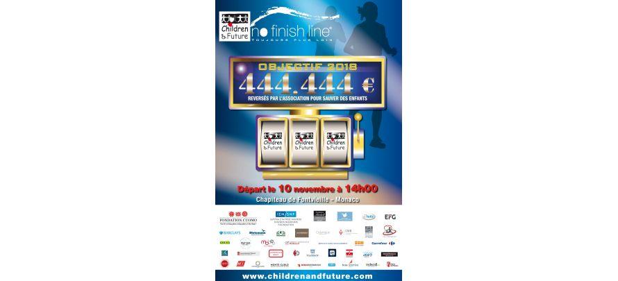 Ayons du coeur, courons ensemble ! No Finish Line du 10 au 18 novembre à Monaco