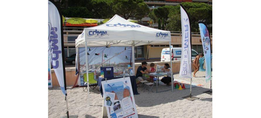 Bibliomer à la plage du Larvotto à Monaco le mardi 25 juillet et le lundi 7 aout
