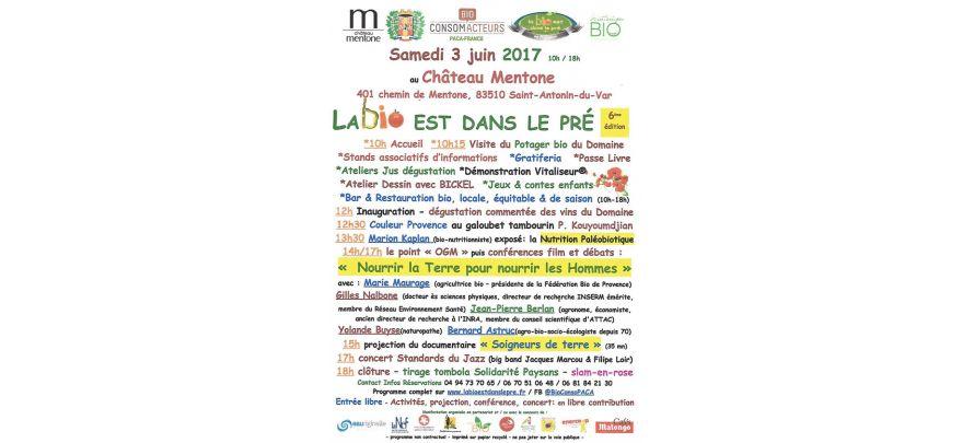 La bio est dans le pré, le 3 juin à Saint-Antonin du Var