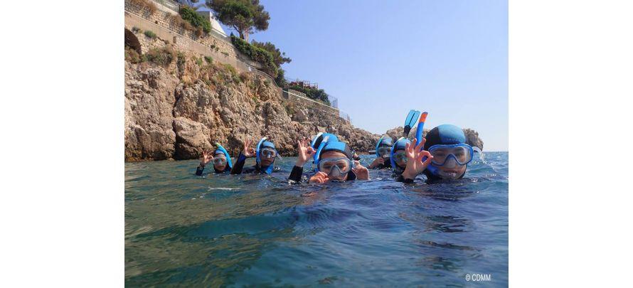 Sorties randonnées palmées tout l'été à Nice avec le Centre de Découverte du Monde Marin