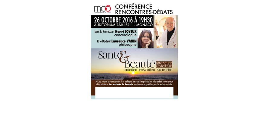 Conférence du Professeur Henri Joyeux à Monaco le 26 octobre