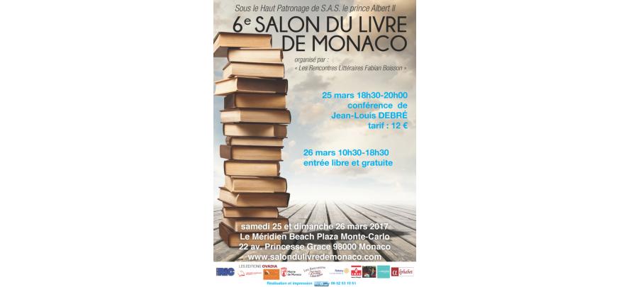 Le Salon du Livre de Monaco :  les 25 et 26 mars