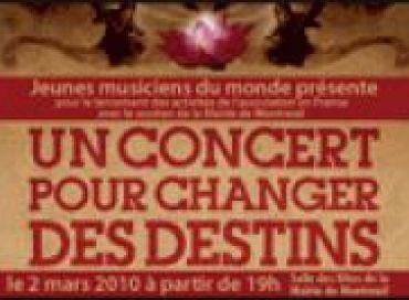 Un concert pour changer des destins