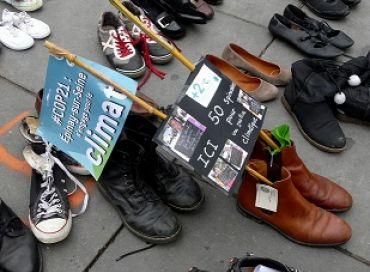 Des chaussures pour la Marche pour le Climat