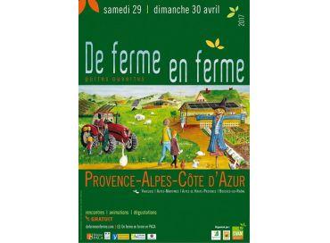 De ferme en ferme dans les Alpes Maritimes les 29 et 30 avril 2017