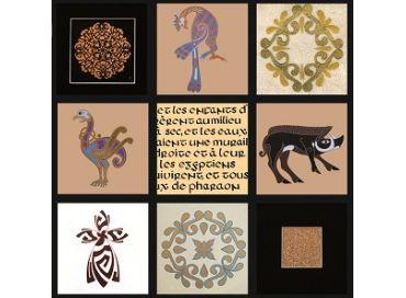 Enluminure et calligraphie dans les Cabanes Colorées d'Oléron