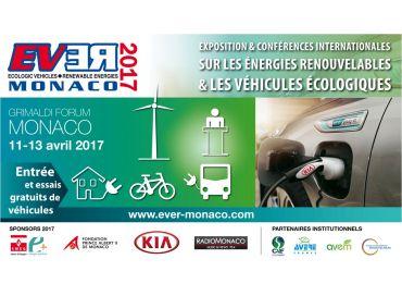 EVER 2017 : Véhicules écologiques et énergies renouvelables du 11 au 13 avril à Monaco