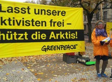 Greenpeace 28 militants emprisonnés en Russie