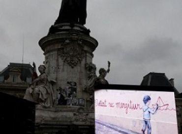 Hommage place de la République, 10 janvier 2016