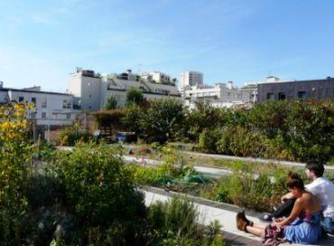 Un jardin sur les toits de Paris