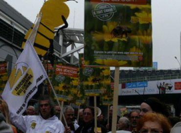 Manifestation au salon de l'agriculture